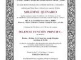 SOLEMNE QUINARIO A NUESTROS TITULARES